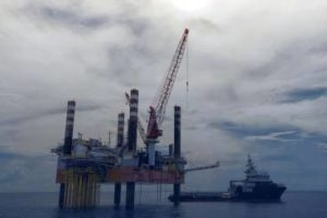Offshore Oil Rig Drone Inspection