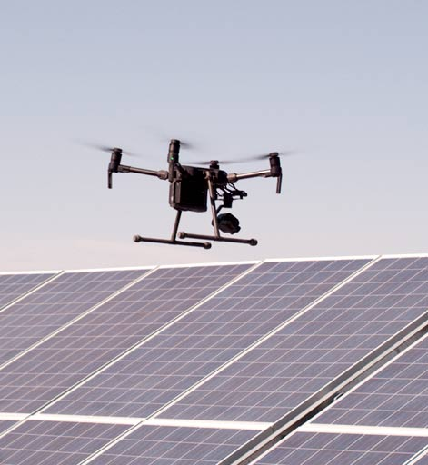 Energy Sector Drones Quadrocopter