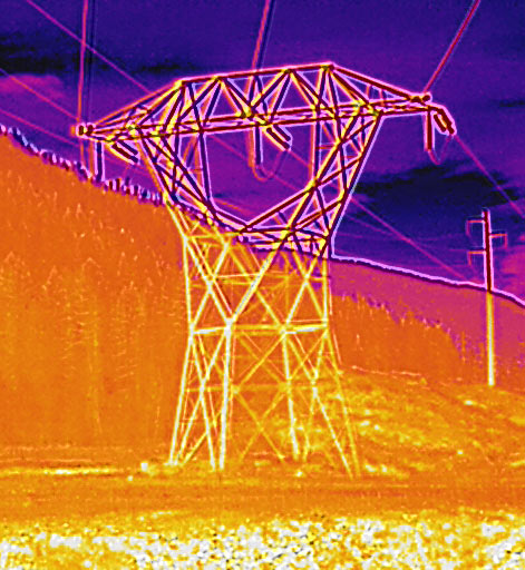 Thermal Powerline drone inspection