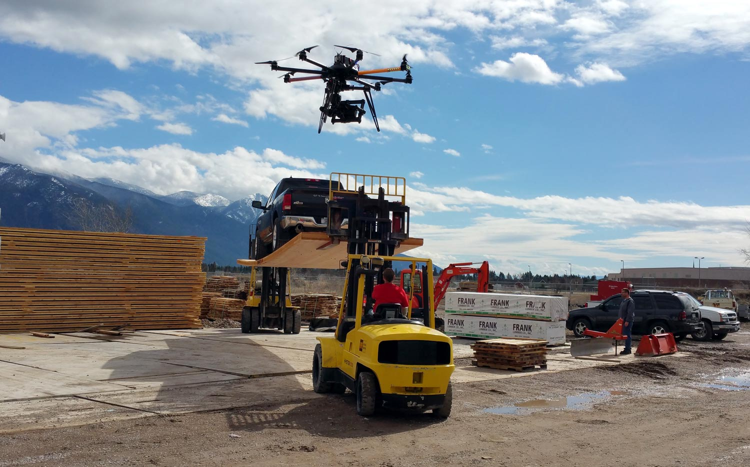 Use a Drone Filming Construction
